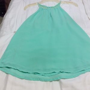 BEAUTIFUL SUMMER TOP, LIME GREEN,  SIZE SMALL